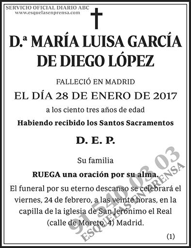 María Luisa García de Diego López
